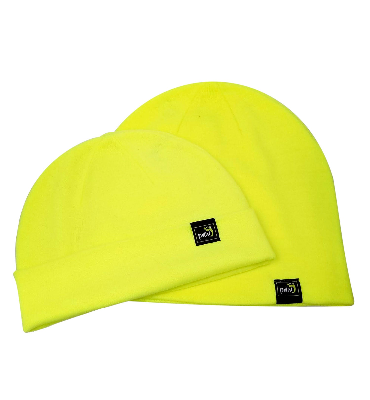 PNW Beanie - 2 In 1 - Neon Yellow