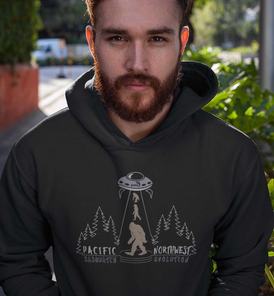 PNW Journey Sweatshirt - Hoodie - Sasquatch Evolution - Green