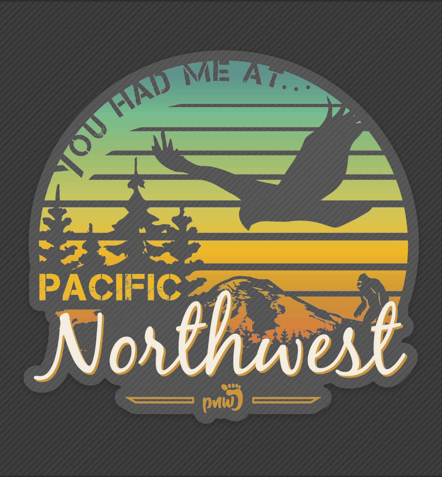 PNW Sticker - Sunset