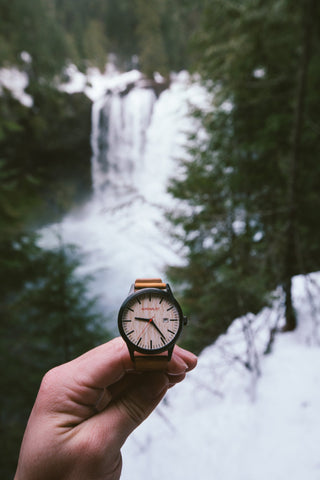 Watches - Bamboo / Brown Leather Watch