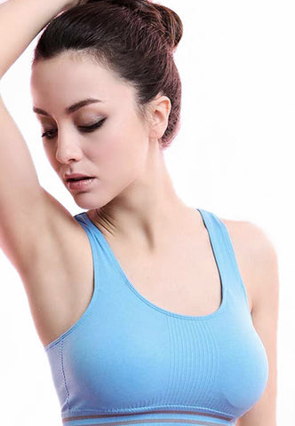 Ladies Blue Padded Sports Bra
