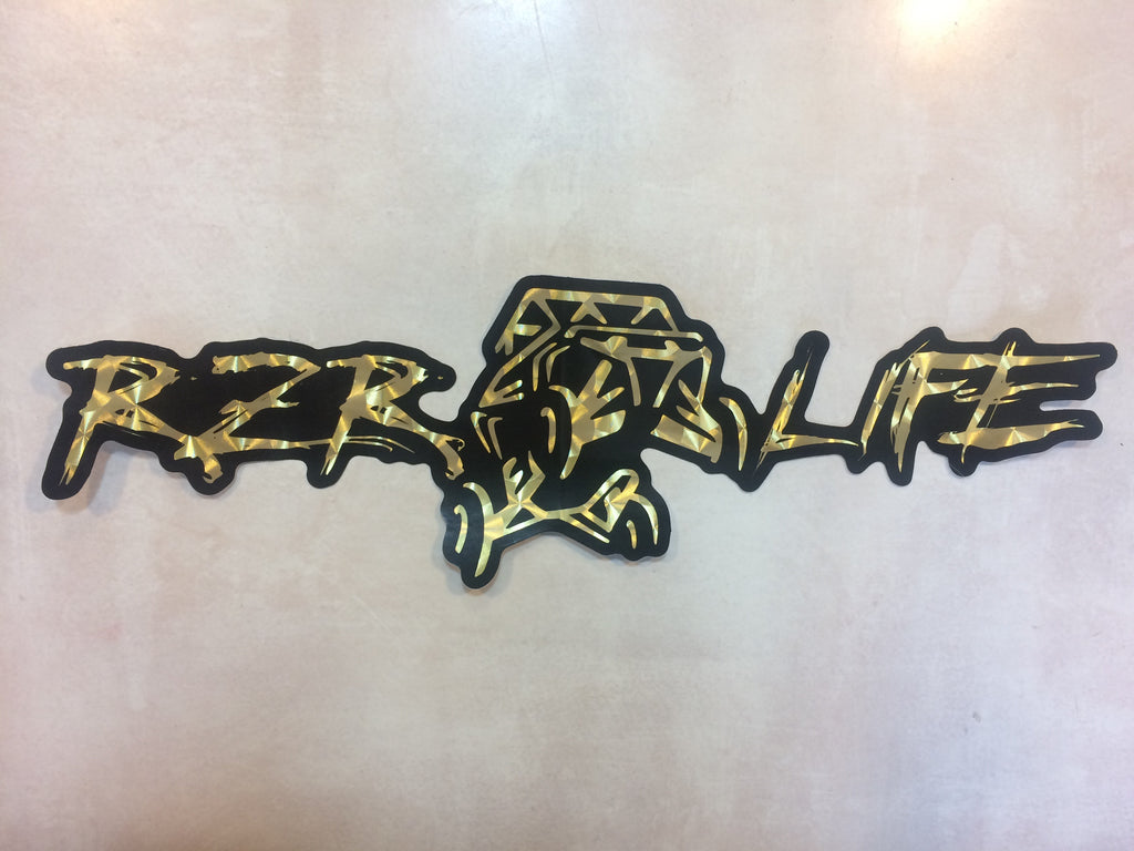 Gold Leaf Special Edition RZR LIFE Decal