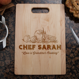 Love is Grandma's Kitchen Cutting Board