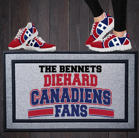 Personalized Diehard Canadien Fan Indoor/Outdoor Door Mat
