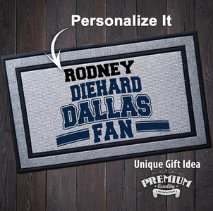 Personalized Diehard Dallas Football Fan Indoor/Outdoor Door Mat