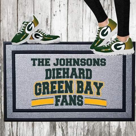 Personalized Diehard Green Bay Football Fan Indoor/Outdoor Door Mat