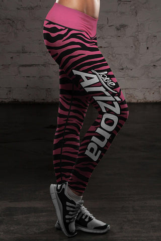 Arizona Football Striped Leggings