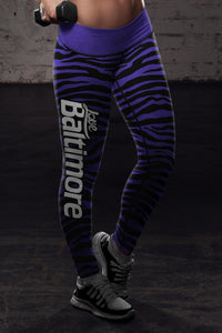 Baltimore Football Striped Leggings