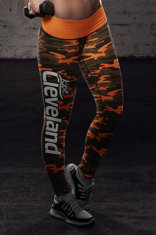 Image of Cleveland Football Camo Leggings