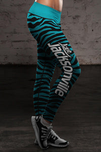 Jacksonville Football Striped Leggings