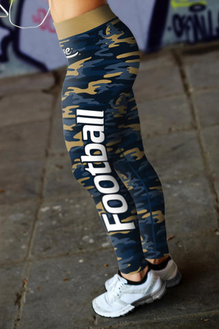 Image of Los Angeles Football Camo Leggings
