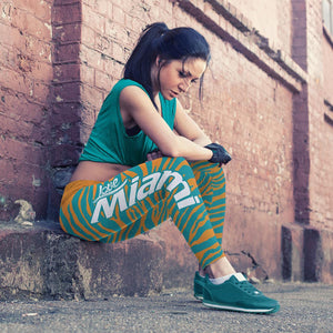 Miami Football Striped Leggings