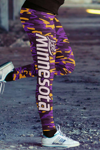 Image of Minnesota Football Camo Leggings