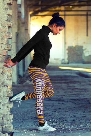 Image of Minnesota Football Striped Leggings
