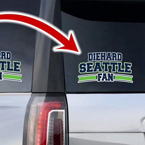Image of Diehard Seattle Fan Decal SPECIAL