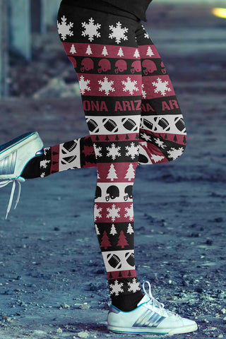 Image of Arizona Ugly Christmas Classic Football Leggings