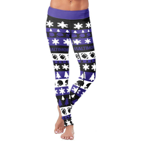 Image of Baltimore Ugly Christmas Classic Football Leggings