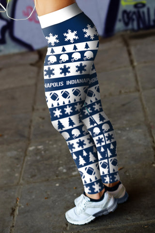 Image of Indianapolis Ugly Christmas Classic Football Leggings
