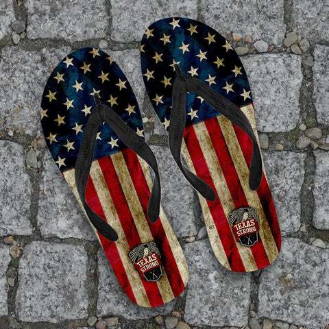 Image of Texas Strong Flip-Flops
