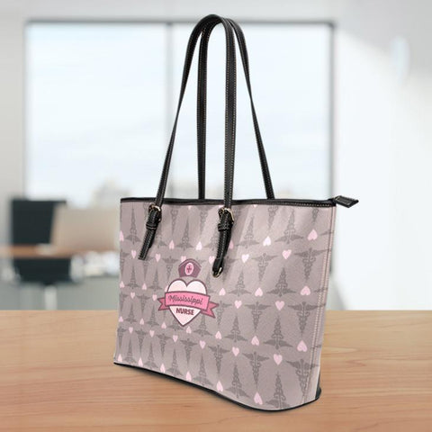 Image of MS Nurse Large Leather Tote Bag