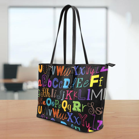 Image of I Teach Large Leather Tote Bag