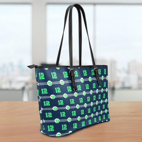 Image of Seattle Nurse Small Leather Tote Bag
