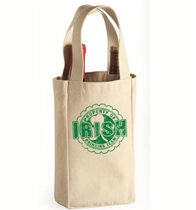 Property Of Irish Drinking Team Wine Bag