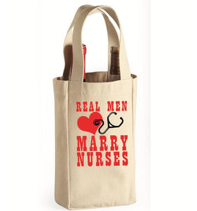 Real Men Wine Bag
