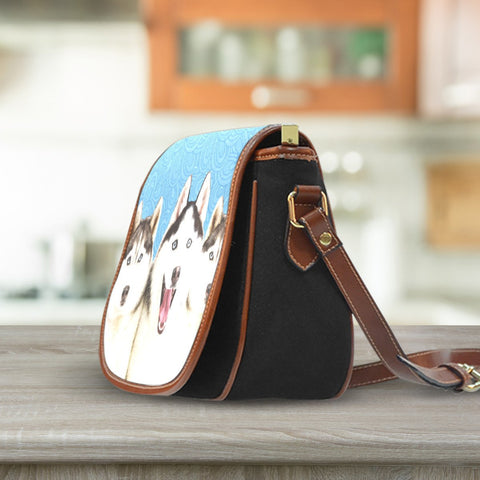 Image of Huskies Saddle Bag