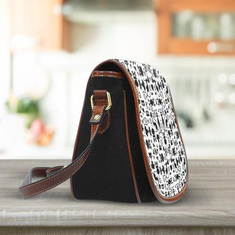Image of Cats White Saddle Bag