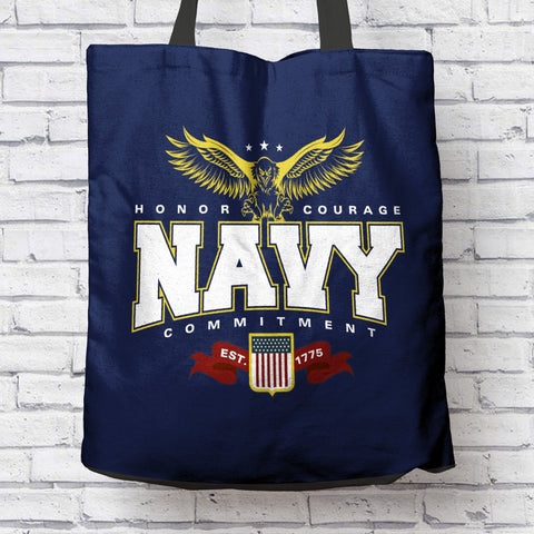 Image of Navy Tote Bag