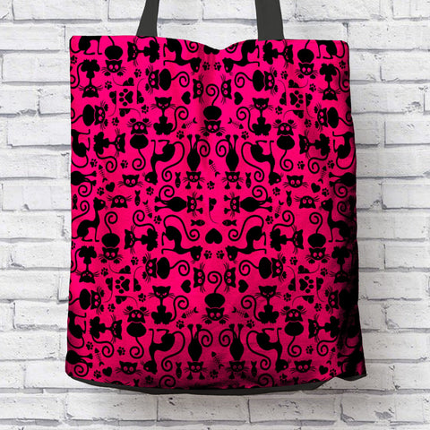 Image of Cats Pink Tote Bag