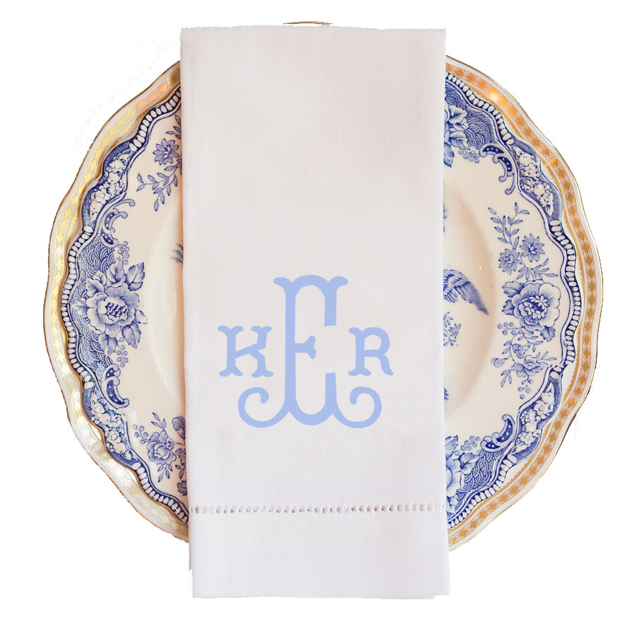 Bluffton Monogram Guest Towel