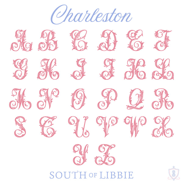 Charleston Monogram Dinner Napkin