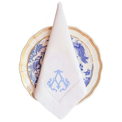 Edenton Monogram Dinner Napkin