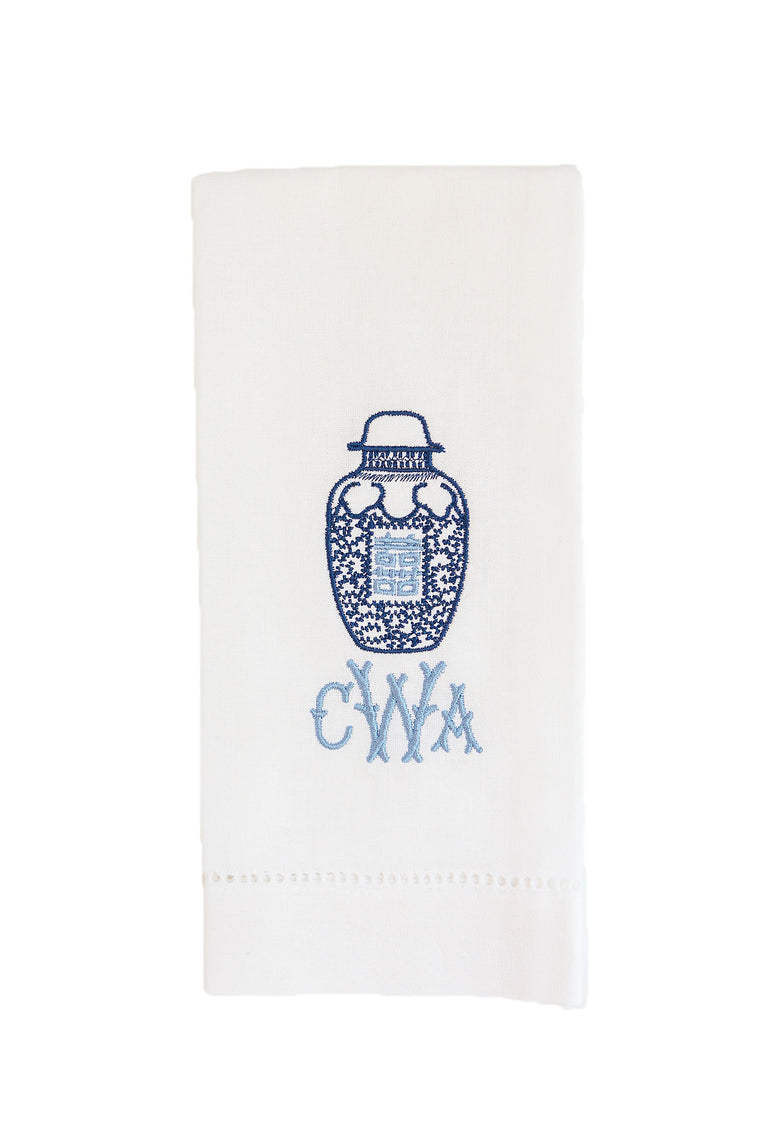 Ginger Jar Monogrammed Tea Towel