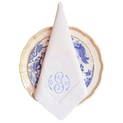 Louise Monogram Dinner Napkin