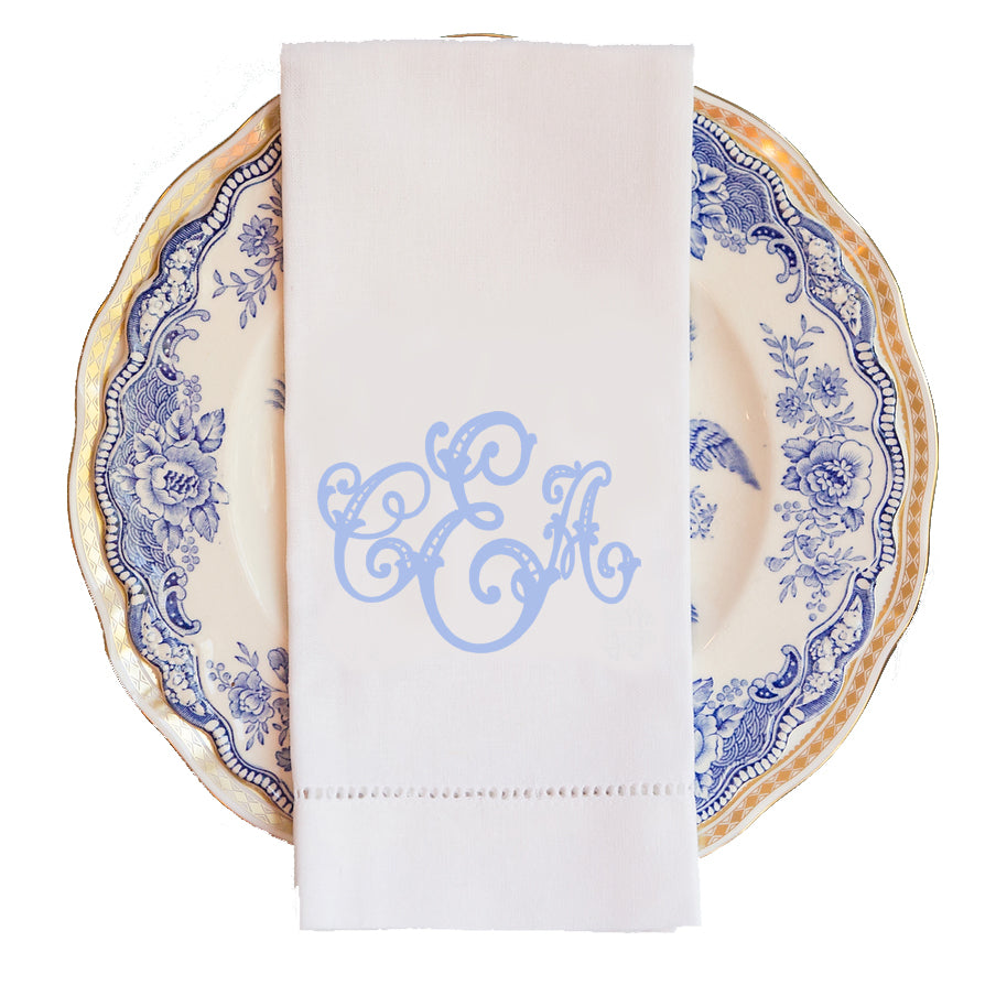 Louise Monogram Guest Towel