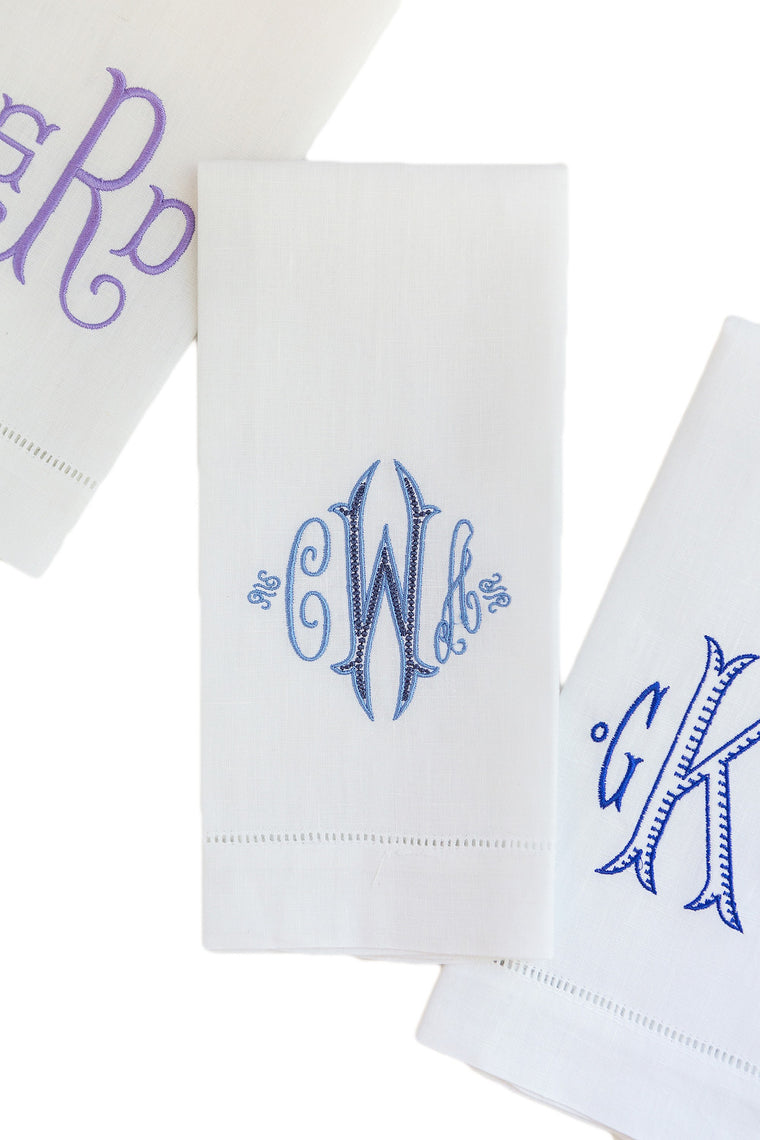 Linen Hemstitch Tea Towel