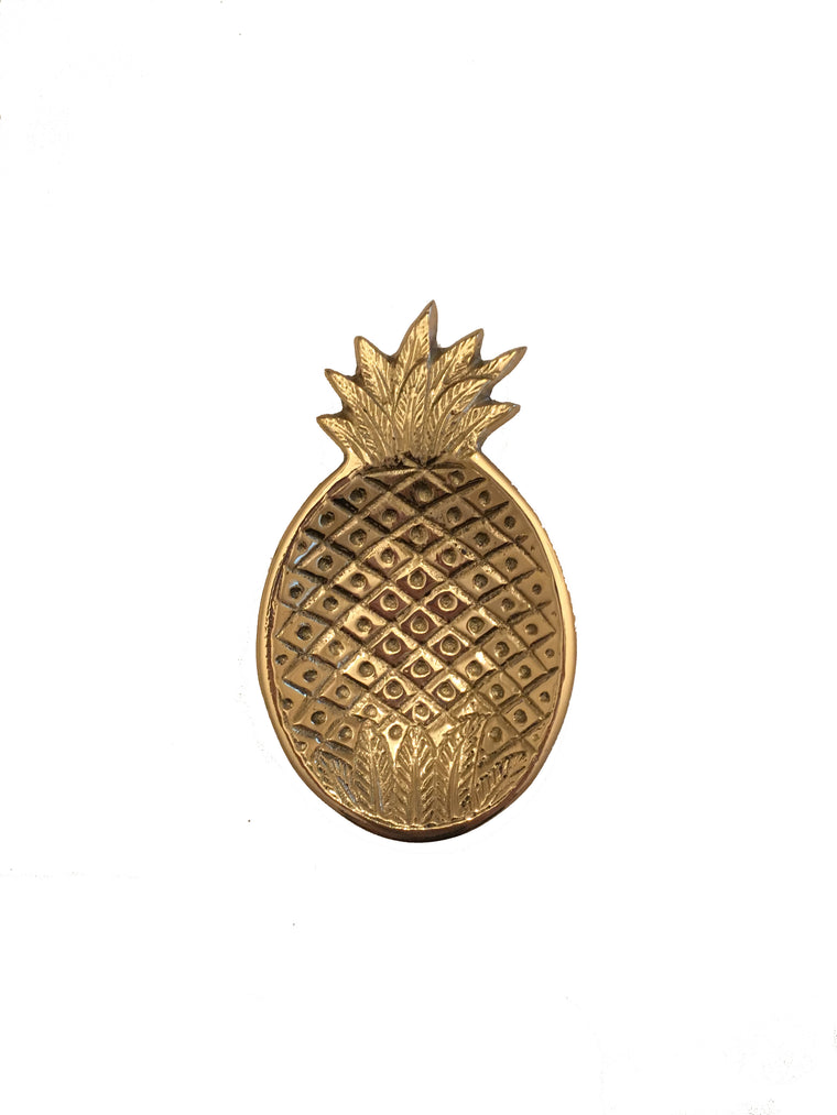 Brass Pineapple Trinket Dish