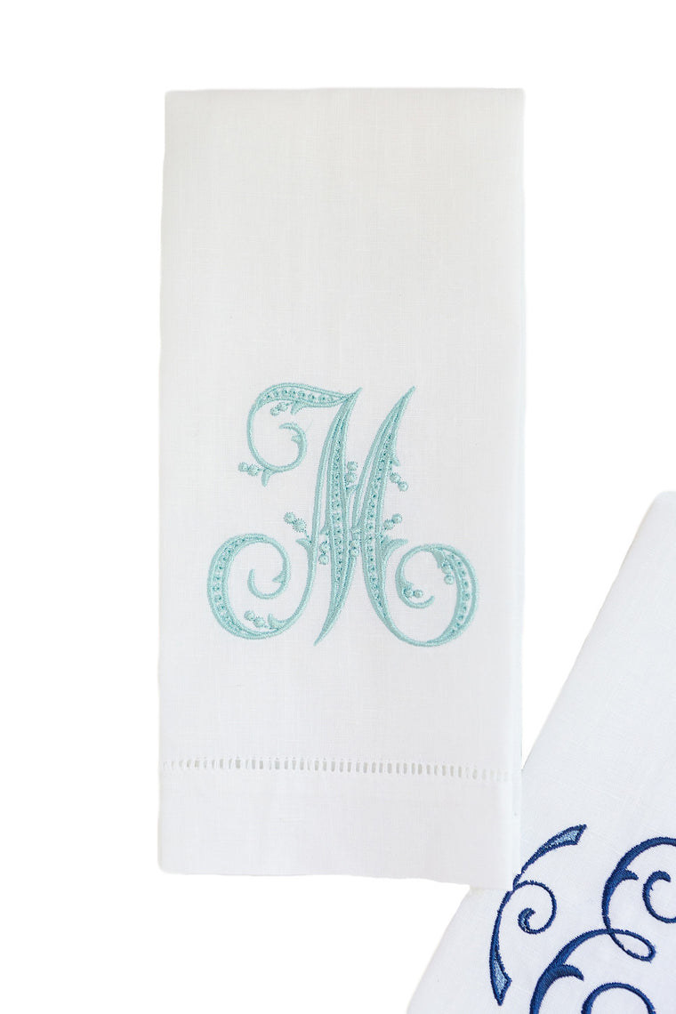 Single Initial Linen Tea Towel