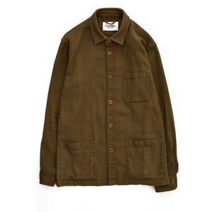 Open Weave - Olive Overshirt