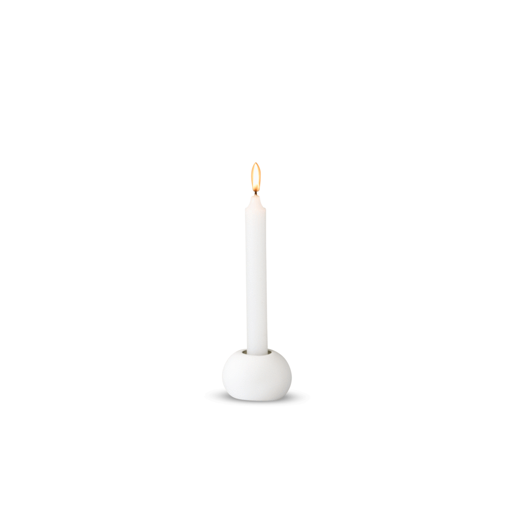 Tina Frey White Dot Candle Holder