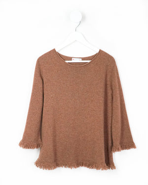 Knit To Order Ellie Fringe Swing Cashmere Sweater