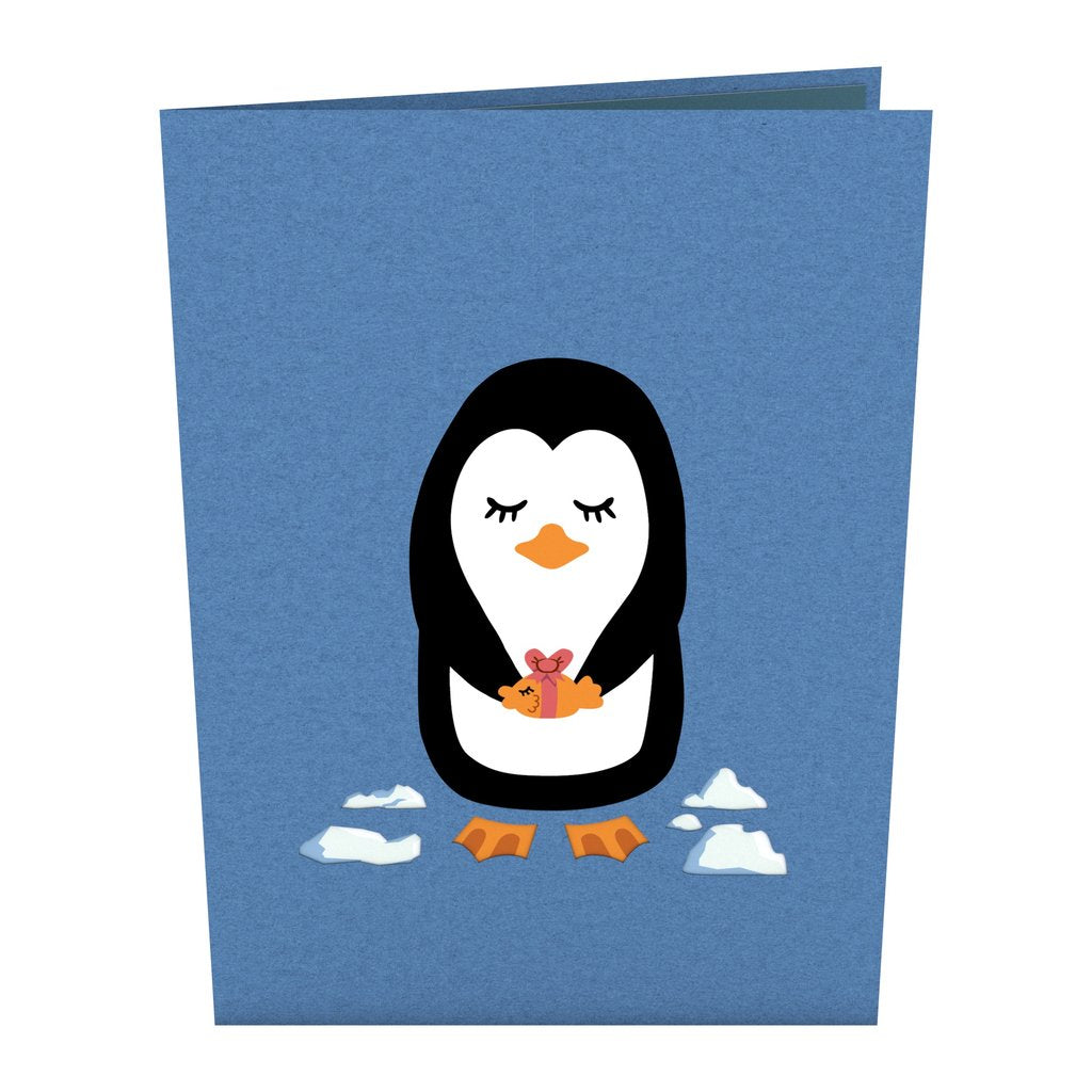 Penguins In Love Pop Up Card
