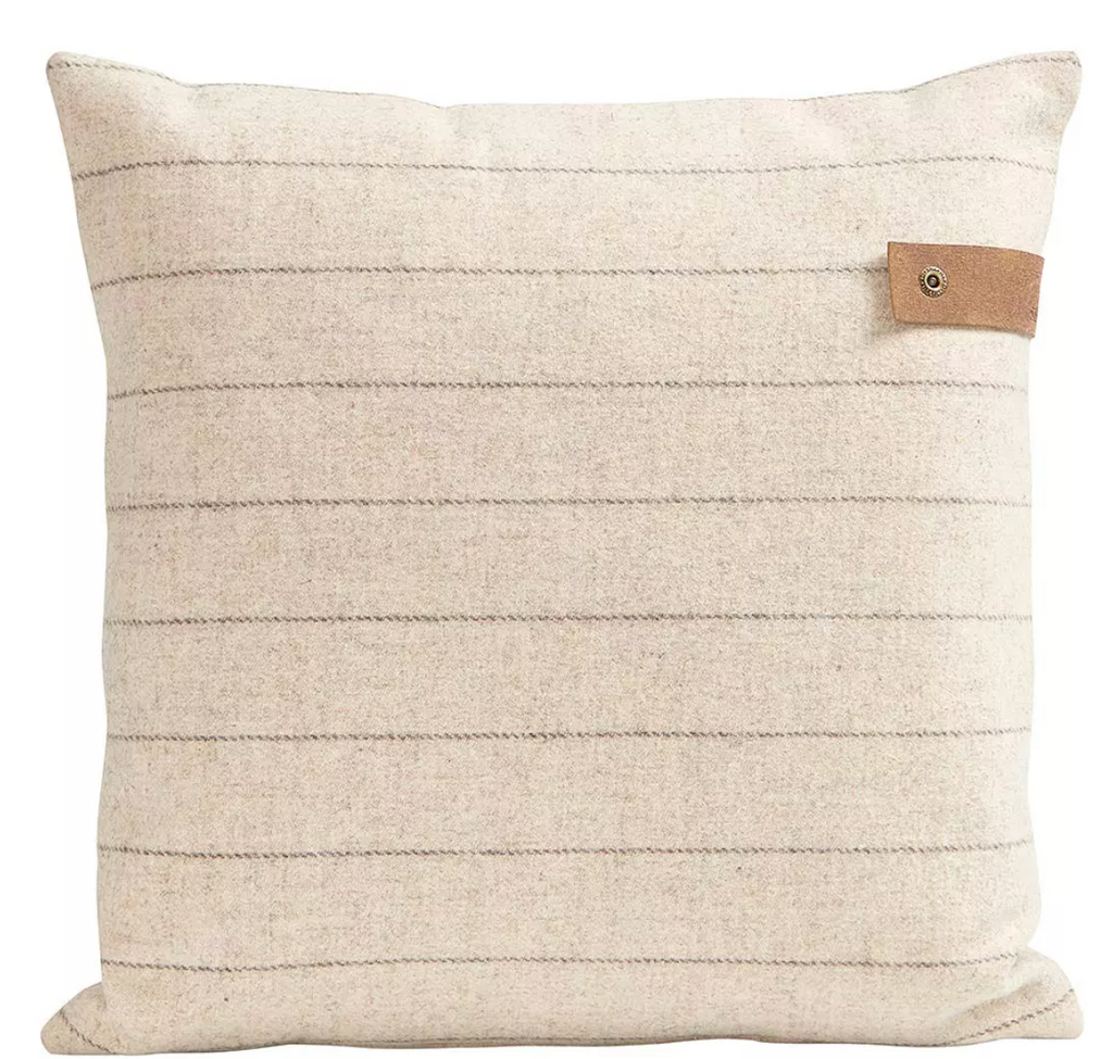 Marina Striped Woven Wool Pillow