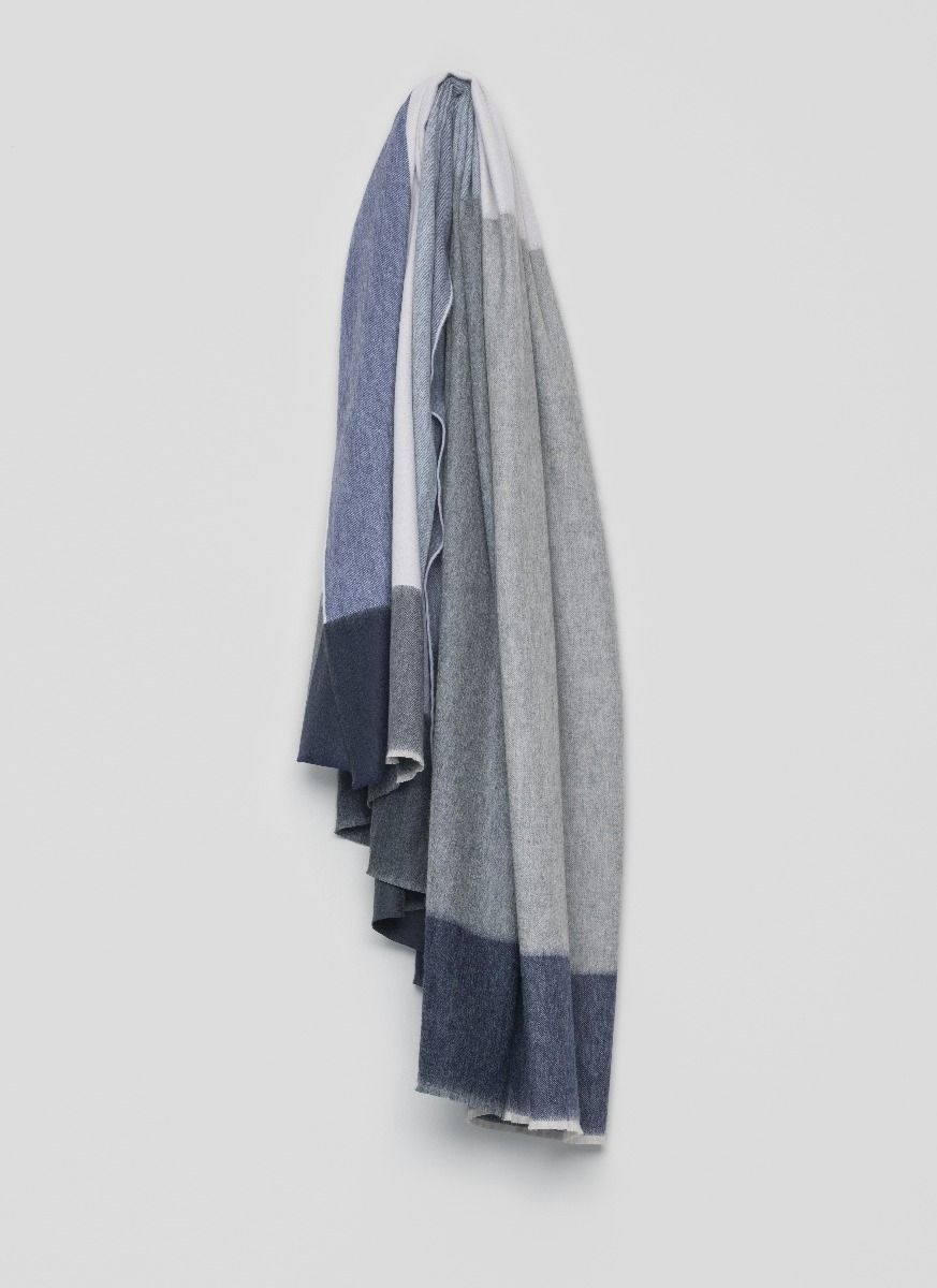 Arran Keppie Blue Cashmere Throw