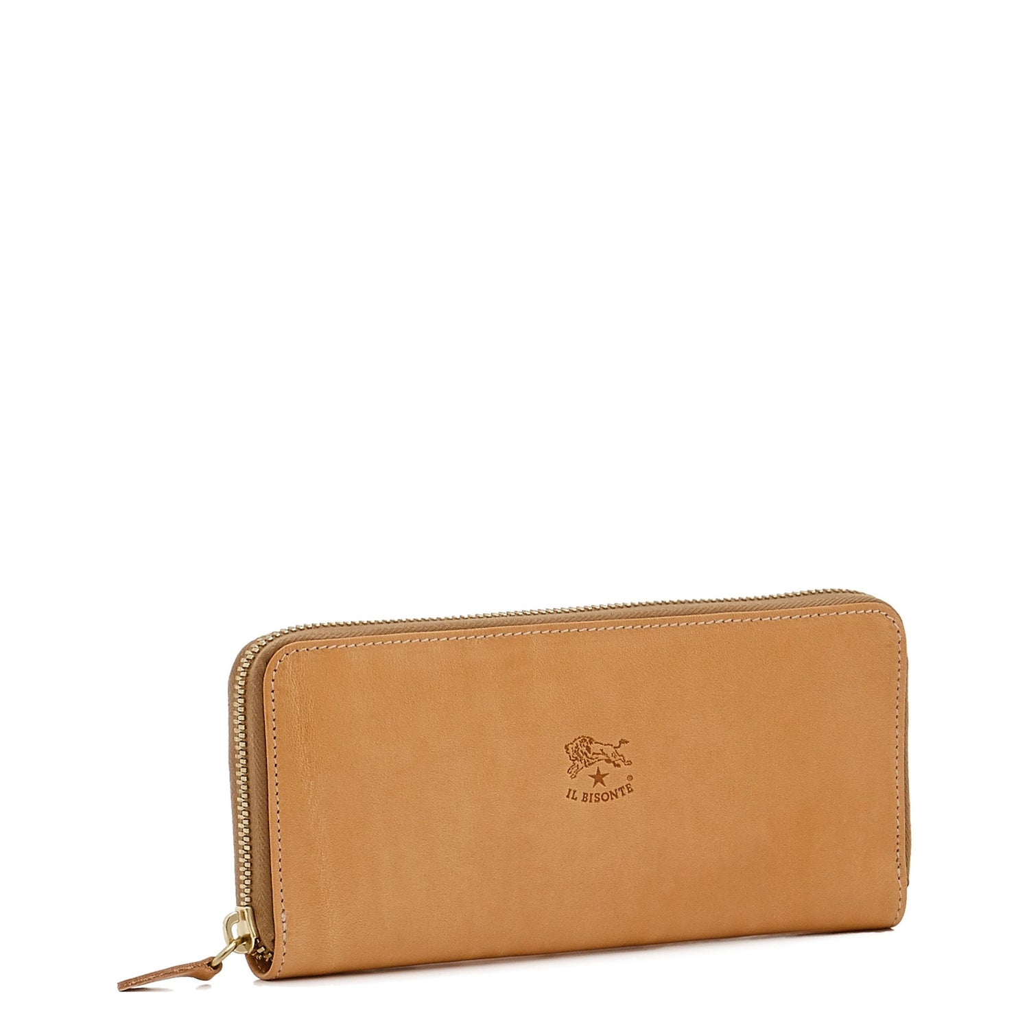 Cowhide Zip Around Wallet