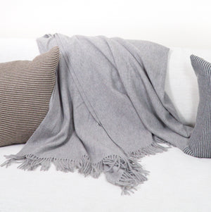 Arran Solid Scottish Cashmere Blanket