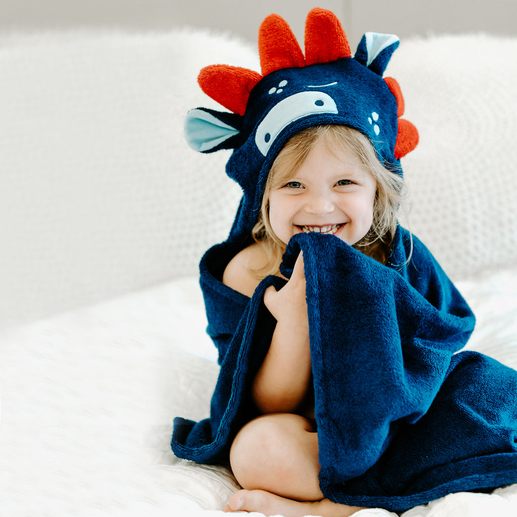 Dinosaur Bamboo Hooded Towel for Kids